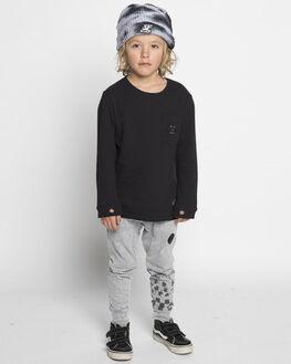 BLACK KIDS BOYS MUNSTER KIDS TOPS - MK182TL17BLK