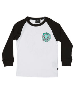 WHITE KIDS TODDLER BOYS RUSTY TEES - TTR0372WHT