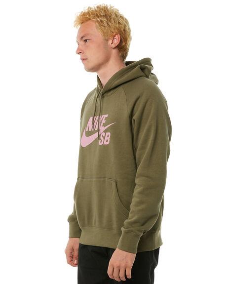 MEDIUM OLIVE MENS CLOTHING NIKE JUMPERS - 846886222