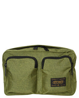 GREEN OUTLET MENS STUSSY BAGS + BACKPACKS - ST792021GRN