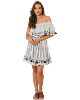 BLUE WOMENS CLOTHING TIGERLILY DRESSES - T392468BLUE