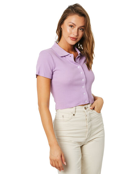 ORCHID WOMENS CLOTHING STUSSY TEES - ST191114ORC