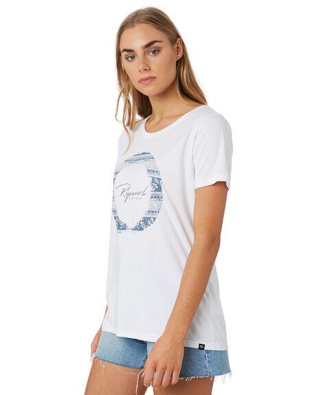 WHITE WOMENS CLOTHING RIP CURL TEES - GTECP21000
