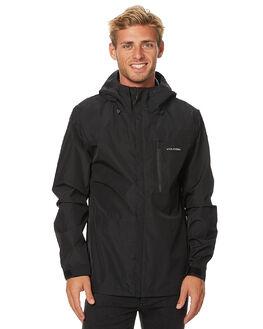 BLACK MENS CLOTHING VOLCOM JACKETS - A1511700BLK