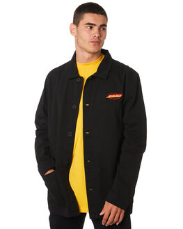 BLACK MENS CLOTHING SANTA CRUZ JACKETS - SC-MSA9135BLK