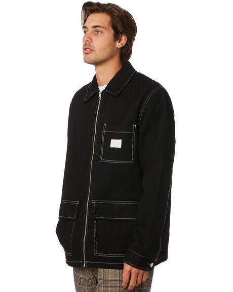 BLACK MENS CLOTHING STUSSY JACKETS - ST096506BLACK