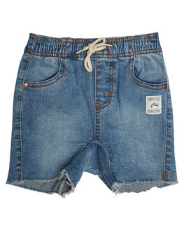 THRIFTED BLUE KIDS TODDLER BOYS RUSTY SHORTS - WKR0200THB