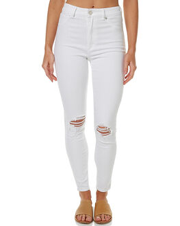 BUSTER WHITE WOMENS CLOTHING A.BRAND JEANS - 70535-1914