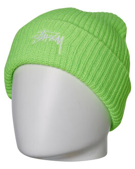 GREEN MENS ACCESSORIES STUSSY HEADWEAR - ST796004GRN