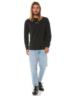 BLACK MENS CLOTHING THRILLS TEES - TH8-110BBLK
