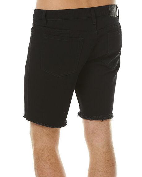 BLACK MENS CLOTHING AFENDS SHORTS - 09-05-021BLK
