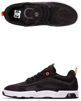 BLK/BLK/ORG MENS FOOTWEAR DC SHOES SNEAKERS - ADYS100447-XKKN