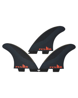 CHARCOAL RED BOARDSPORTS SURF FCS FINS - FJSM-PC02-TS-RCHRD