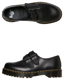 BLACK SMOOTH WOMENS FOOTWEAR DR. MARTENS BOOTS - SS24634001BLKW