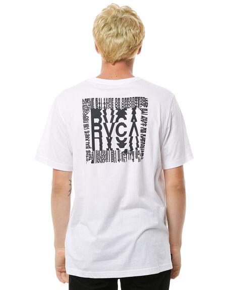 WHITE MENS CLOTHING RVCA TEES - R183055WHT