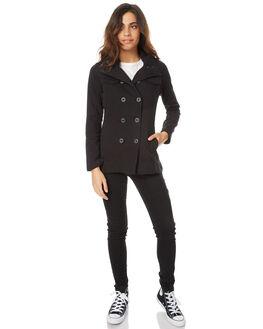 BLACK WOMENS CLOTHING HURLEY JACKETS - AGJTWCHT00A