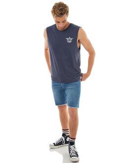 MIDNIGHT NAVY MENS CLOTHING RHYTHM SINGLETS - OCT17M-PT15-NAV