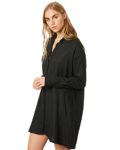 BLACK WOMENS CLOTHING RUE STIIC DRESSES - SW-20-34-1-B1-LRBLK