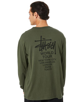 FLIGHT GREEN MENS CLOTHING STUSSY TEES - ST006015FLTGR