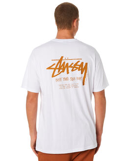 WHITE MENS CLOTHING STUSSY TEES - ST091000WHT