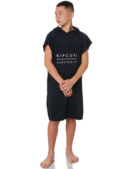 BLACK KIDS BOYS RIP CURL TOWELS - KTWAH90090