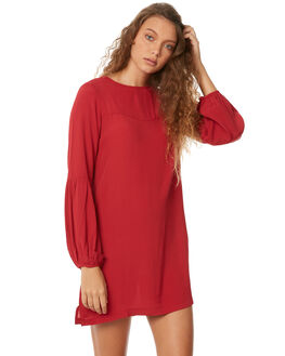 DEEP CLARET WOMENS CLOTHING RUSTY DRESSES - DRL0908DEC