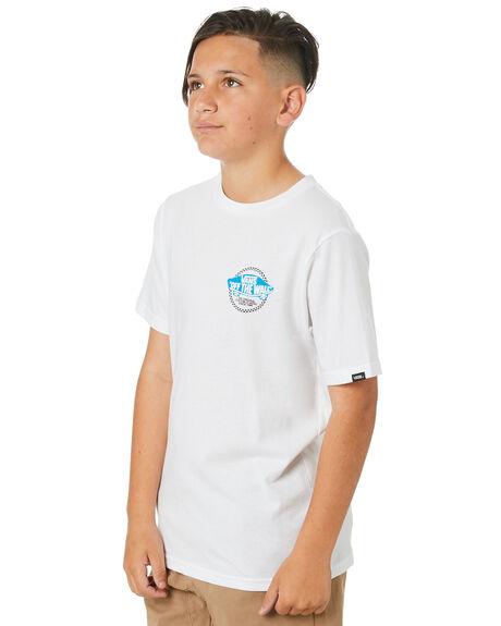 WHITE KIDS BOYS VANS TOPS - VN0A4MSRWHTWHT