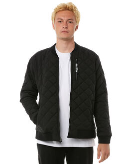 BLACK MENS CLOTHING HUFFER JACKETS - MJA81S1171BLK