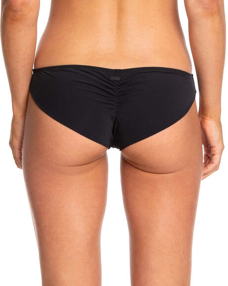TRUE BLACK WOMENS SWIMWEAR ROXY BIKINI BOTTOMS - ERJX403804-KVJ0