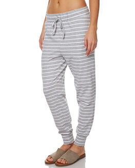 GREY MARLE STRIPE WOMENS CLOTHING SILENT THEORY PANTS - 6085016GRY