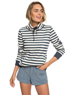 DRESS BLUE 2X2 STRIP WOMENS CLOTHING ROXY JUMPERS - ERJFT03926-BTK2