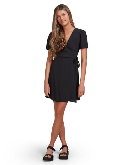 BLACK WOMENS CLOTHING BILLABONG DRESSES - 6513479-BLK