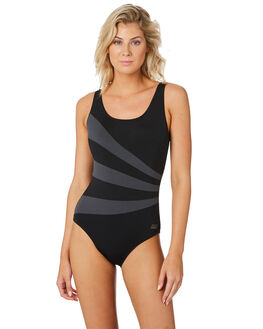 BLACK WOMENS SWIMWEAR ZOGGS ONE PIECES - 1204190BLK
