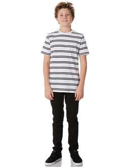 WHITE BLACK KIDS BOYS SWELL TEES - S3184009WHBLK