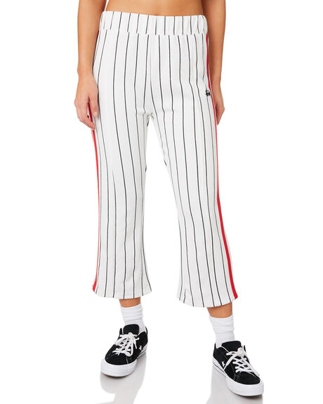 WHITE OUTLET WOMENS STUSSY PANTS - ST183611WHI