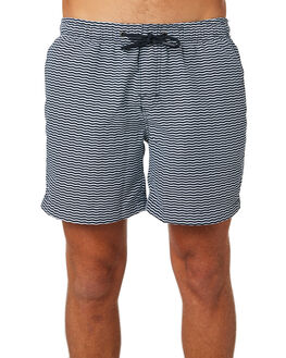 NAVY WHITE MENS CLOTHING ACADEMY BRAND BOARDSHORTS - 19S721NVSH