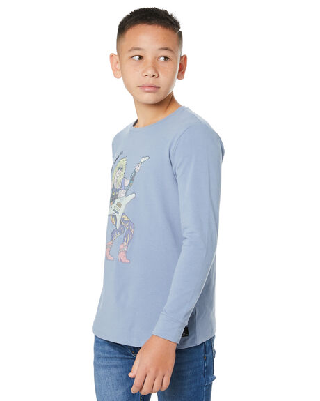 GREY KIDS BOYS ROCK YOUR KID TOPS - TBT2064-WN-GRY