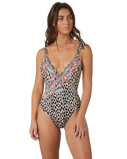 LEOPARD WOMENS SWIMWEAR TIGERLILY ONE PIECES - T382565LEO