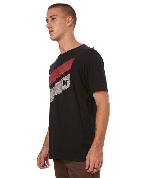 BLACK MENS CLOTHING HURLEY TEES - 892203010