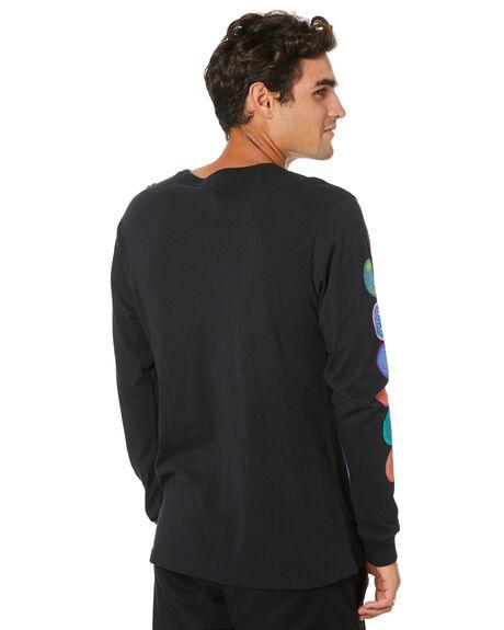 BLACK MENS CLOTHING HUF TEES - TS00991-BLACK