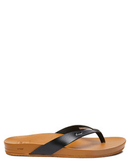 BLACK TAN WOMENS FOOTWEAR REEF THONGS - A3FDSBLN