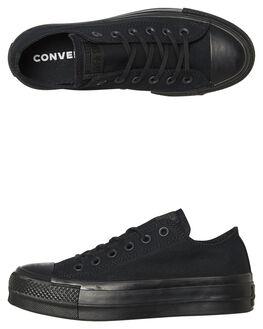 BLACK WOMENS FOOTWEAR CONVERSE SNEAKERS - 562926BLKBK