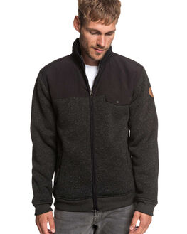 BLACK MENS CLOTHING QUIKSILVER JUMPERS - EQYFT03838-KVJ0