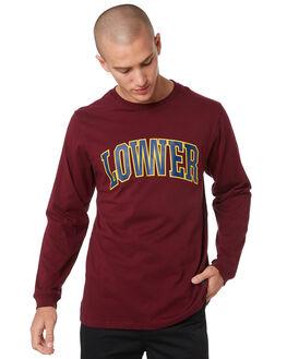 MAROON MENS CLOTHING LOWER TEES - LO19Q3MLS03MARN