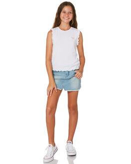 WHITE KIDS GIRLS EVES SISTER TOPS - 9520012WHT