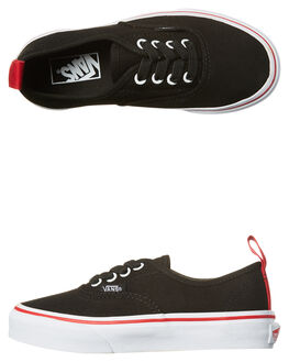 BLACK RACING RED KIDS BOYS VANS SNEAKERS - VN-A38H4ORCBLK
