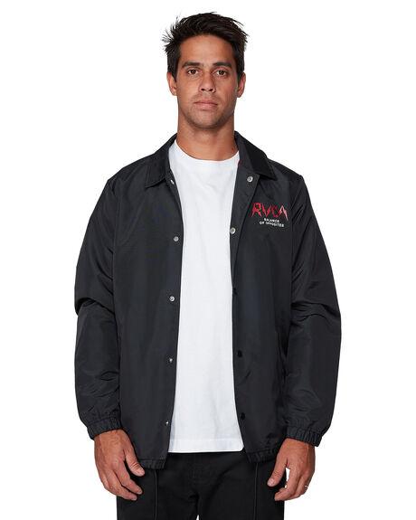BLACK MENS CLOTHING RVCA JACKETS - RV-R307440-BLK