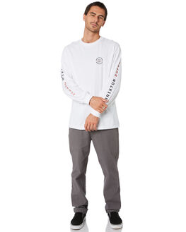 WHITE RUST MENS CLOTHING BRIXTON TEES - 16191WHRST