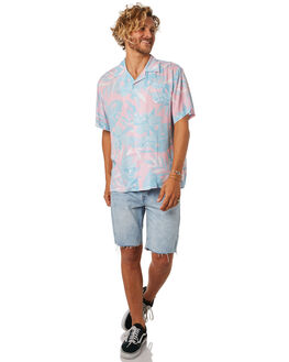 PINK BLUE MENS CLOTHING THE LOBSTER SHANTY SHIRTS - LBSMIAMIPNKBL
