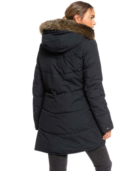 TRUE BLACK WOMENS CLOTHING ROXY JACKETS - ERJJK03289-KVJ0